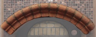 Tuscan Terracotta Frontal Arch