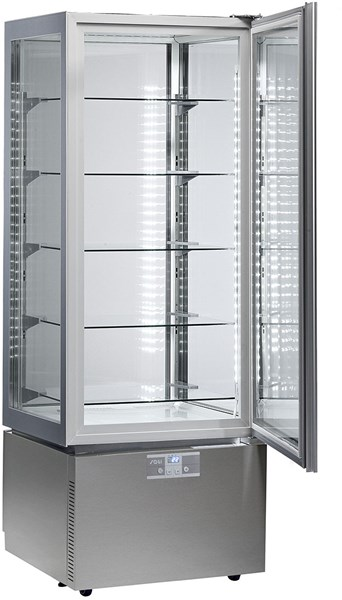 KP6Q   UPRIGHT REFR.DISPLAY UNIT+2/+10°C,LOWER ANTI-FING.  Temperature ranges, °C+2/+10  Dimensions (LxDxH), cm 60 x 64,5 x 184