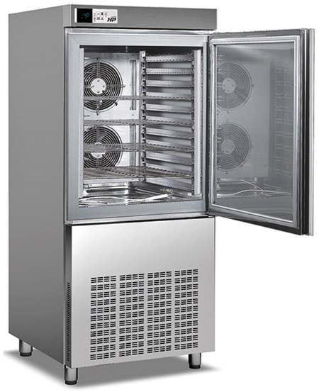 HP101L   QUICK FREEZER FOR ICE-CREAM 27 kgs. AIR-COOLED  Dimensions (LxDxH), cm 80 x 83 x 185