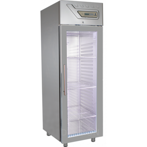 GM7G   PROFESSIONAL REFRIGERATOR 700 Lt -2° +8°C GLASS DOOR - EMBOSSED GUIDES  Dimensions: L: 69cm x P(W): 80cm x H: 212cm