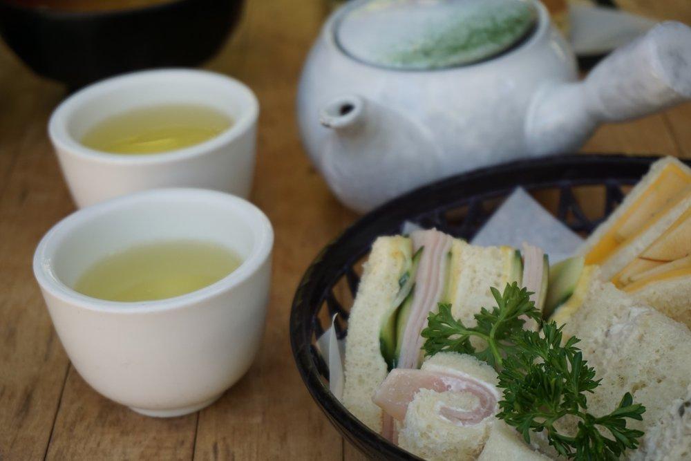 Tea Sandwhiches and Sencha at the Japanese Tea Garden