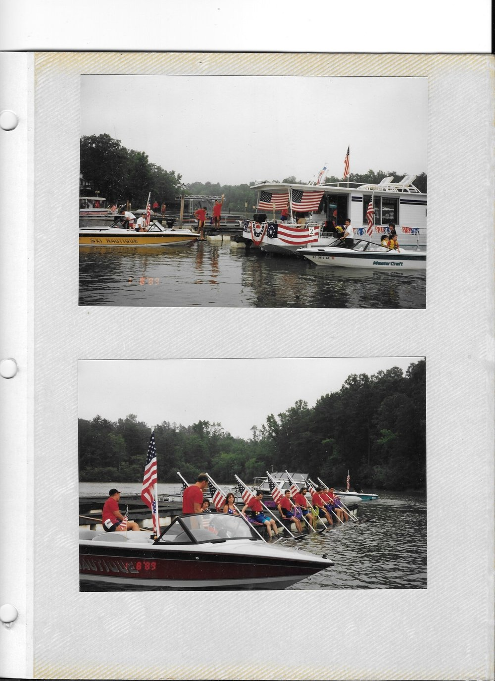 1st Lake Wylie Ski Club Flag Line 1995.jpg