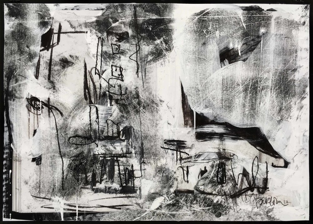 Sofia Bar, Arthur Laidlaw, Laser toner, acrylic primer, etching ink, charcoal, and pencil on paper, 2018