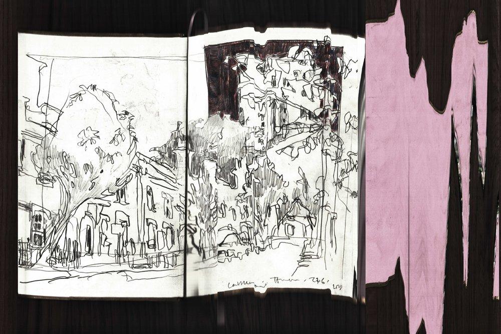 Castlemaine I, Arthur Laidlaw, Pencil, hand-held scanner and digital photo-stitching, printed onto Epson Enhanced Matt paper, 2018
