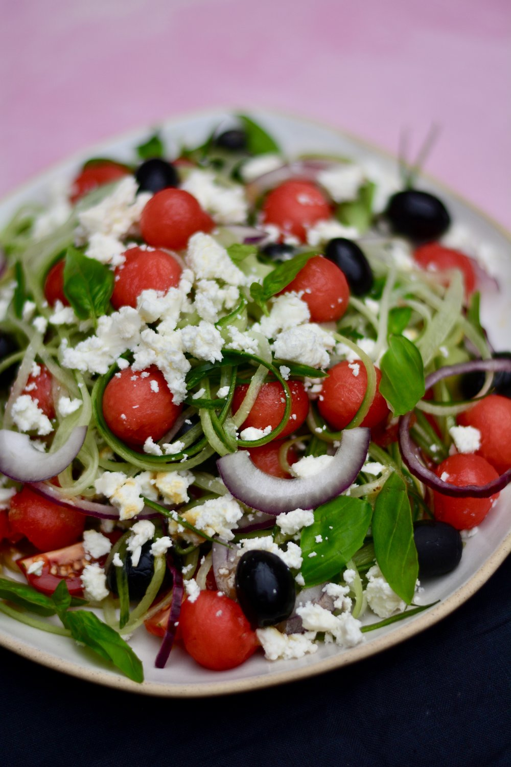 watermelon greek salad