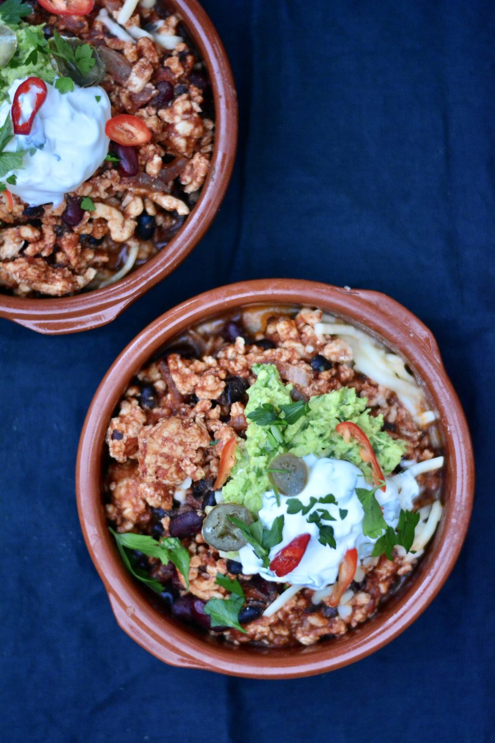 Turkey Chilli With Black Beans & Tomatoes