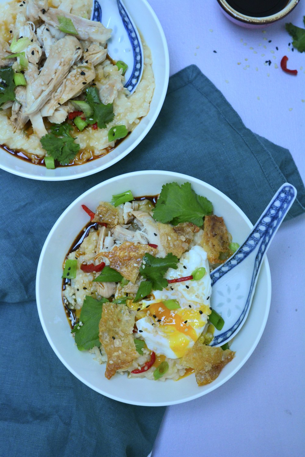 easy chicken congee recipe - desert island dishes - Rachel Khoo on desert island dishes
