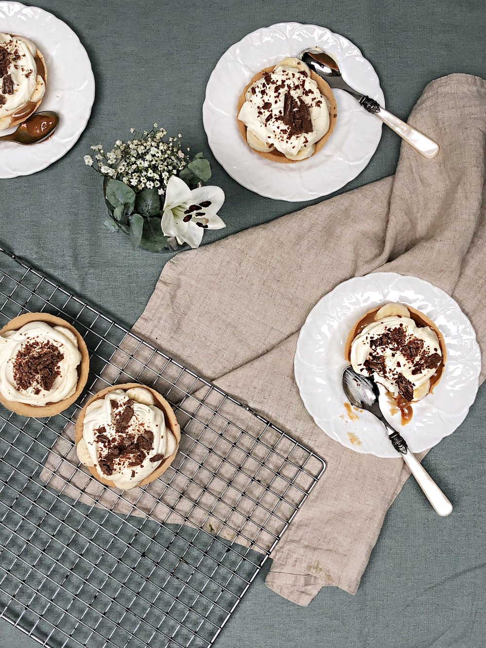 mini banoffee pie - desert island dishes - inspired by Gizzi Erskine - Margie Nomura