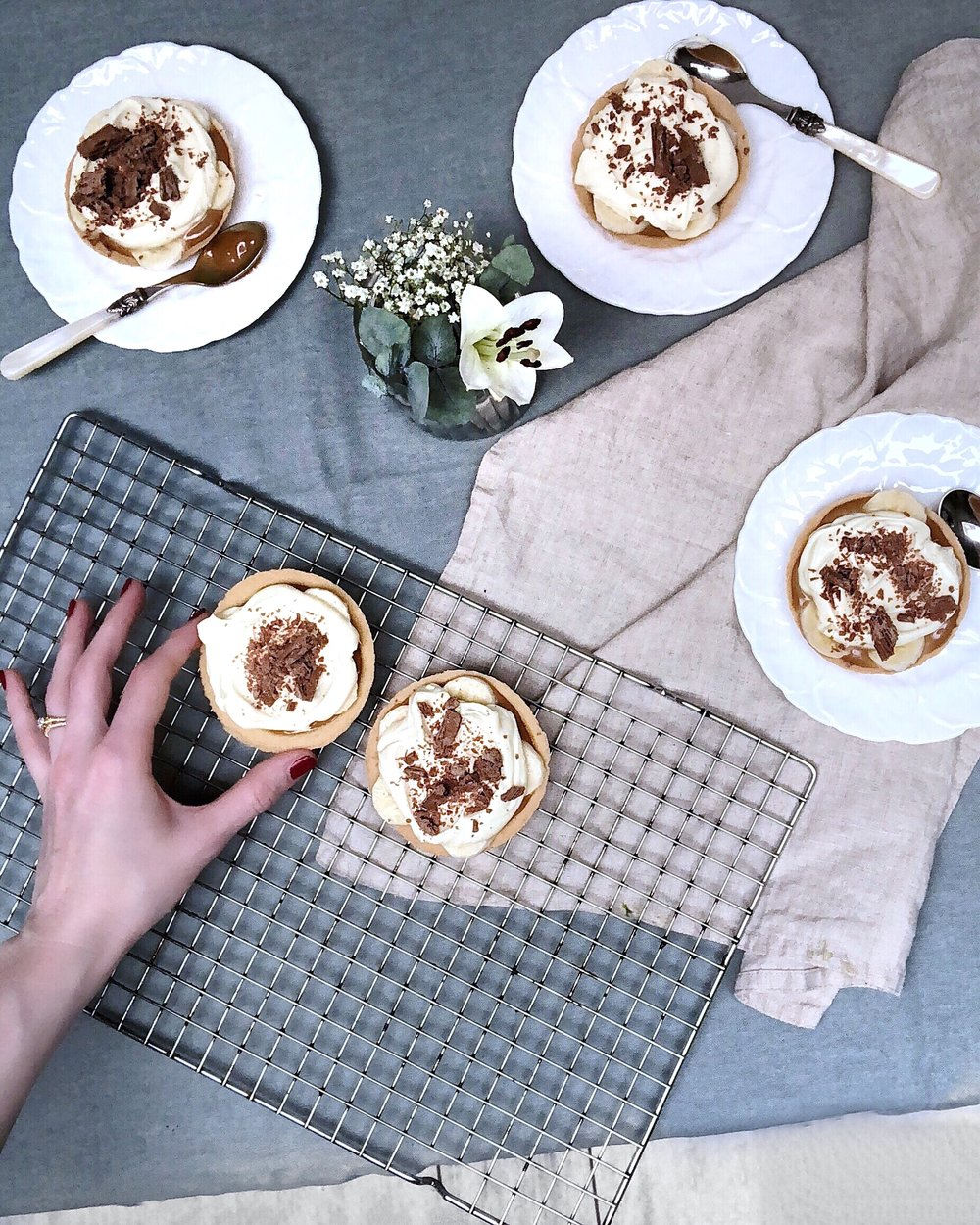 banana pudding with caramel and cream - desert island dishes - Gizzi Erskine - Margie Nomura
