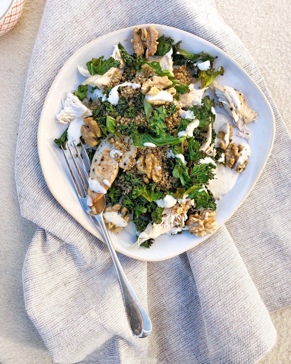 Desert Island Dishes - Kale Caesar