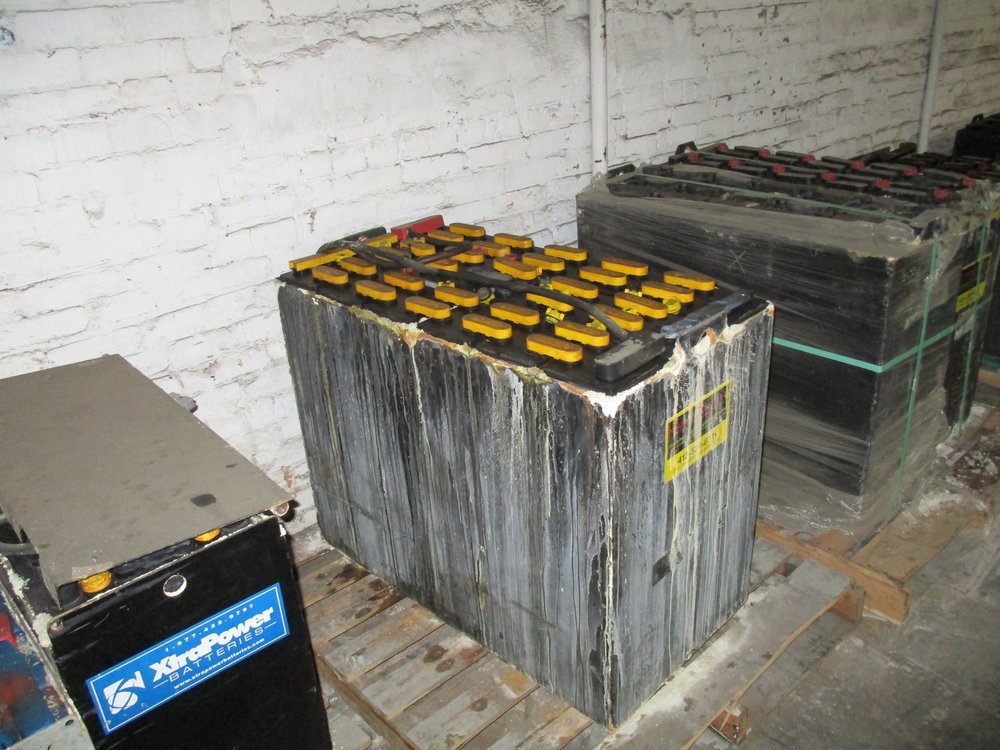 Forklift truck batteries must be properly recycled with proper documentation proving proper disposal of spent batteries.