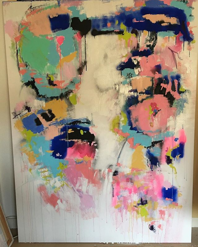 Artwork terminé✨ #abstractart #abstractexpressionism #painting #color #colors#artwork#pink#nmerzoug @nmerzoug #geneva #artwork