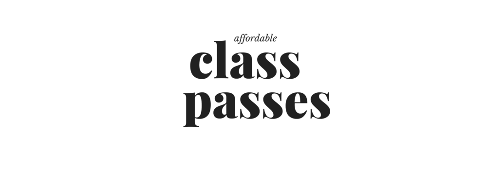 Is your schedule a little less than predictable? We offer a variety of affordable class bundle options designed to give you maximum flexibility! Choose from a single class, five, ten or 25 class passes.