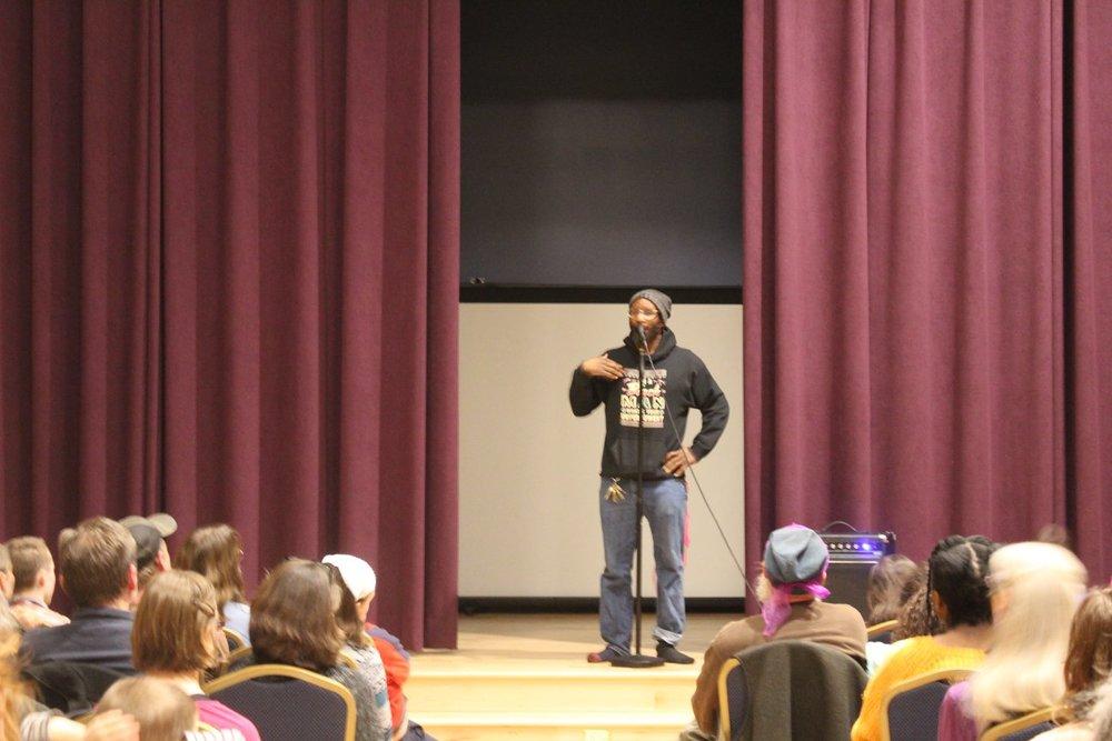 Rajnii Eddins captivates the audience