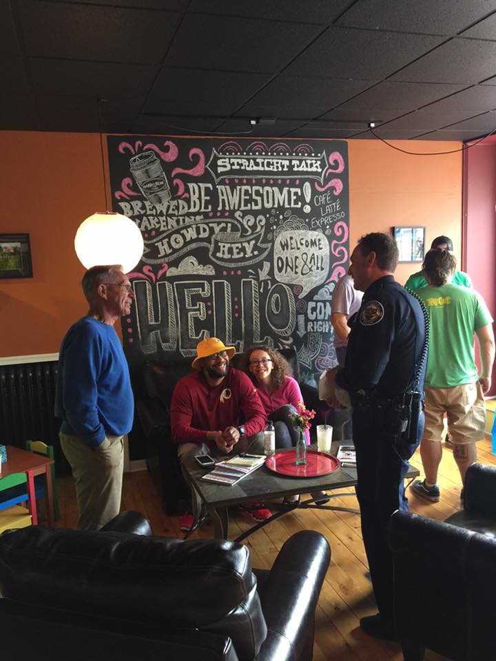 Coffee with a Cop at Brewed Awakening.
