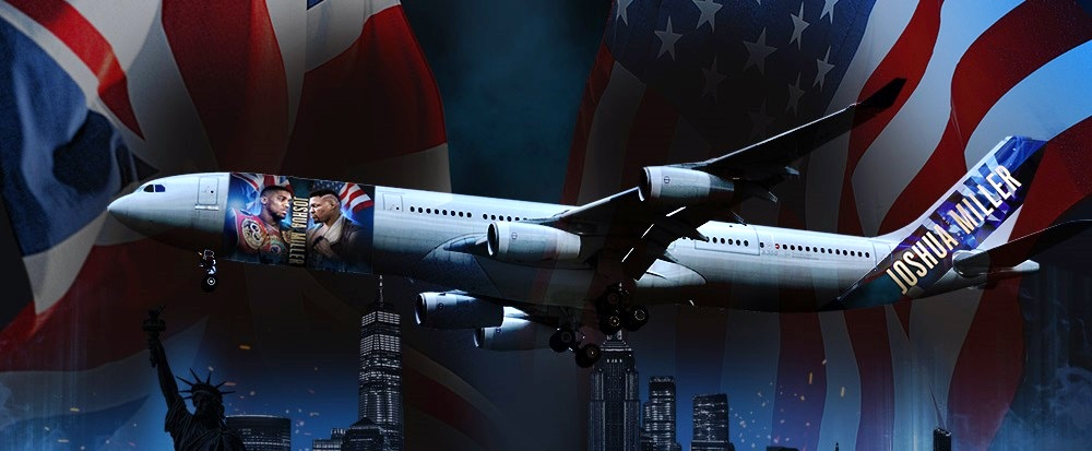 Anthony Joshua vip flights new york boxing