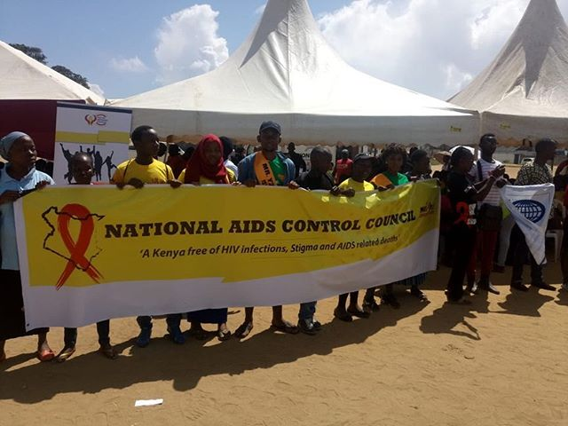 #worldaidsday celebrations in #mombasa County courtesy of KAYSRHR member Pwani Youth Network. #Youth4SRHR