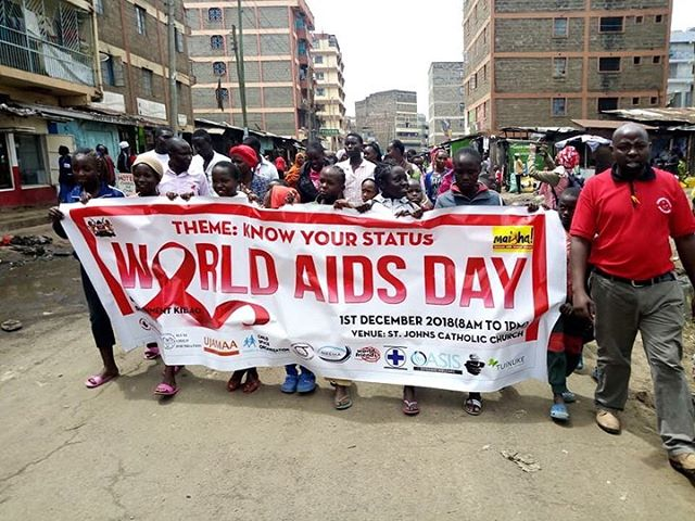 KAYSRH member  Slum Child Foundation participated in #worldaidsday celebrations in Korogocho, Nairobi.  #Youth4SRHR