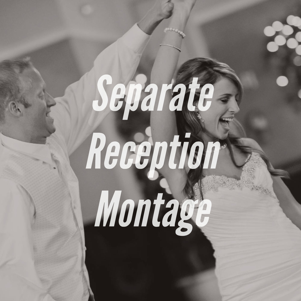 The Reception Montage add-on is an additional montage that is filled with the fun, action-packed moments of your reception.
