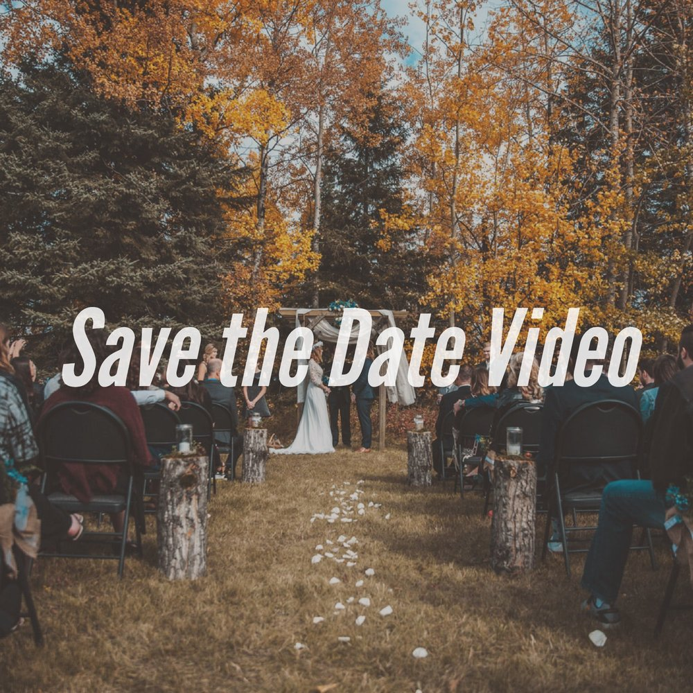 A save the date video is the perfect way to announce your wedding to all of your friends and family!