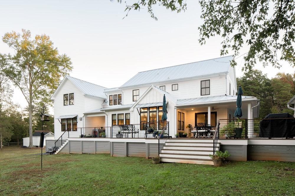 Whole-house renovation, exterior rear.
