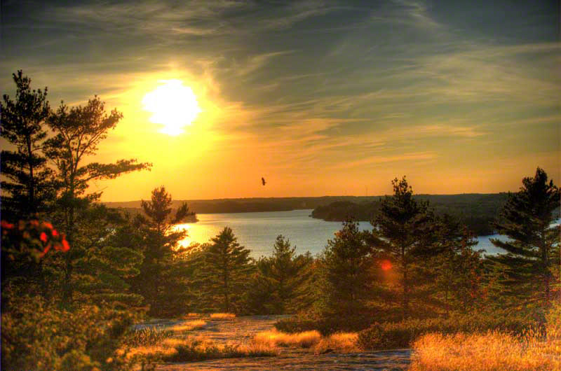 sunset lookouts... - you're only a short hike away to a beautiful cliffside lookout over lake muskoka..