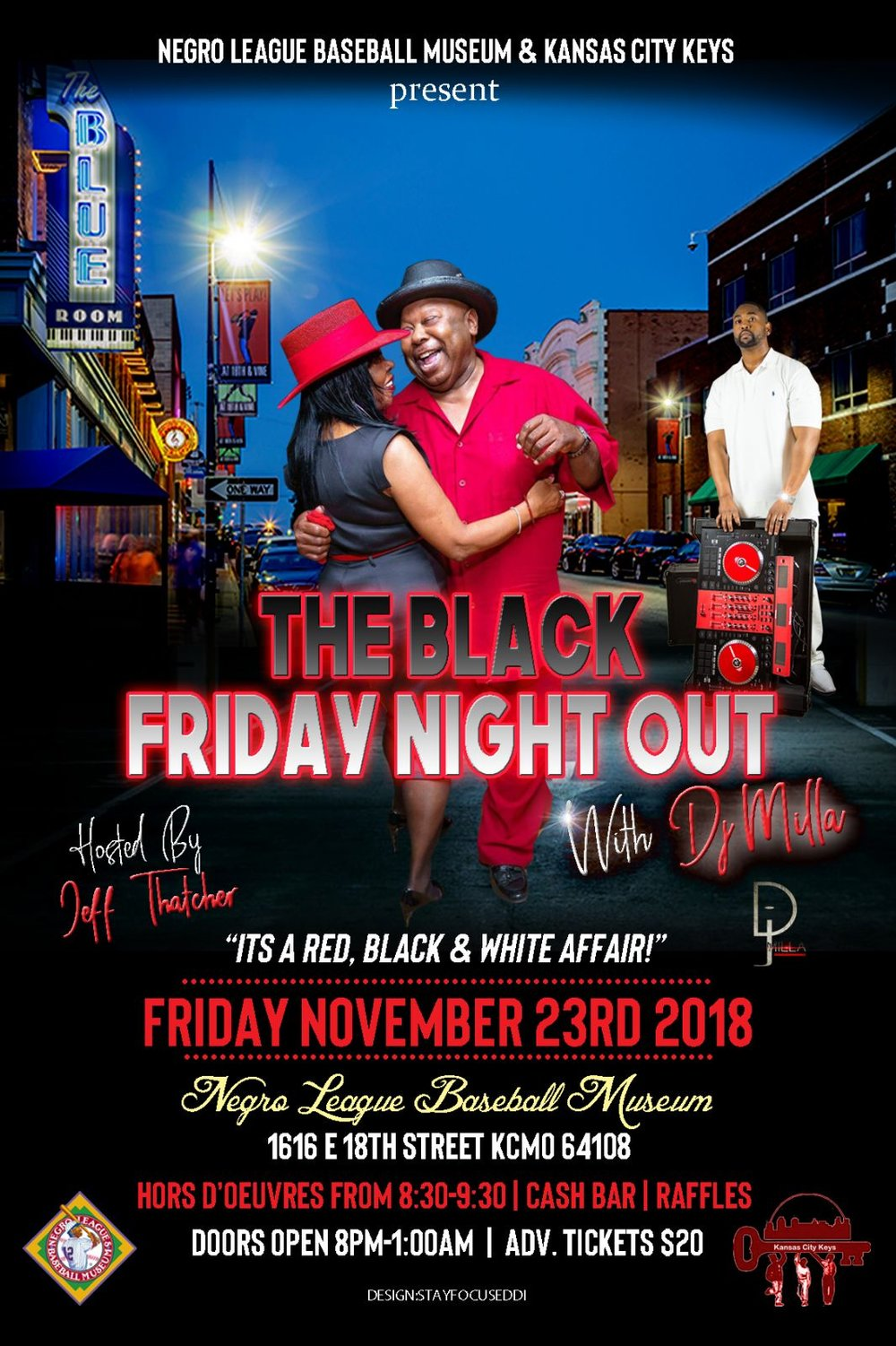 The Black Friday Night Out Fundraiser - The Keys holiday fundraiser event to be held on November 23rd at the Negro League Baseball Museum. This is a fun and social engaging event.