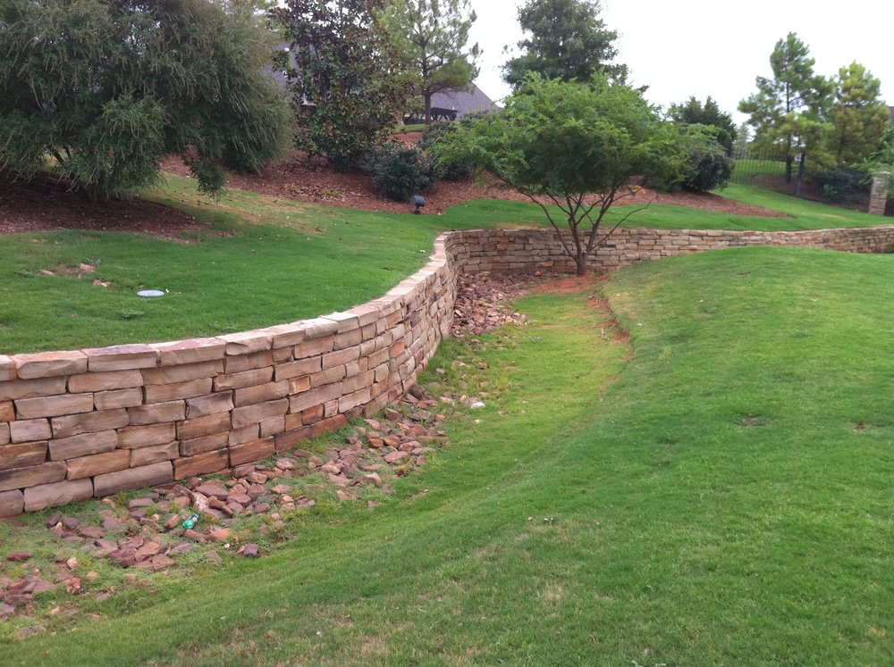 retaining walls oklahoma city