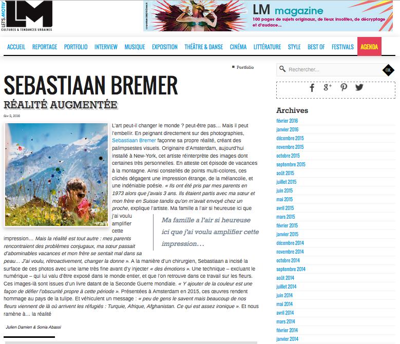 LM Magazine: Sebastiaan Bremer Réalité Augmentée - Julien Damien & Sonia Abassi, Let's motivFebruary 2, 2016