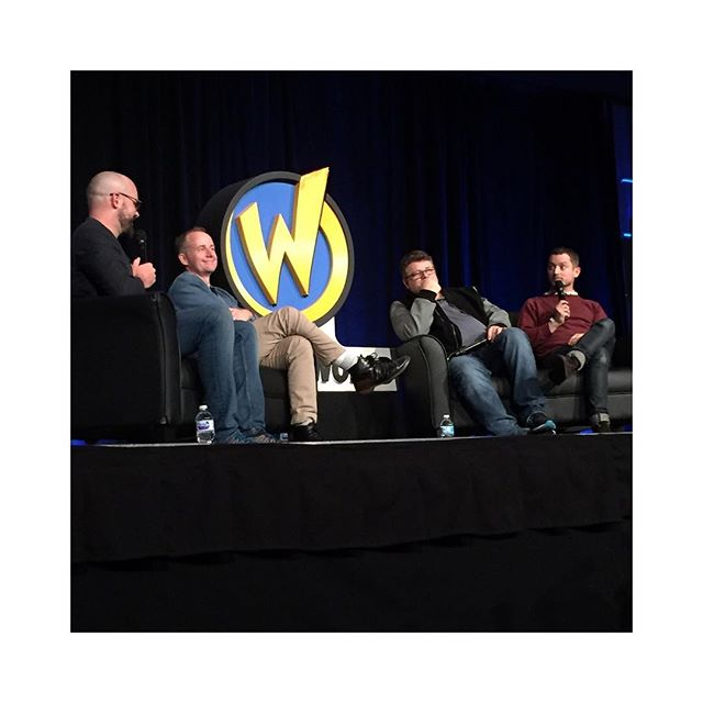 #ElijahWood @seanastin and #billyboyd Q&A at @wizardworld ✌️ - #seanastin #lordoftherings #leseigneurdesanneaux #frodon #sam