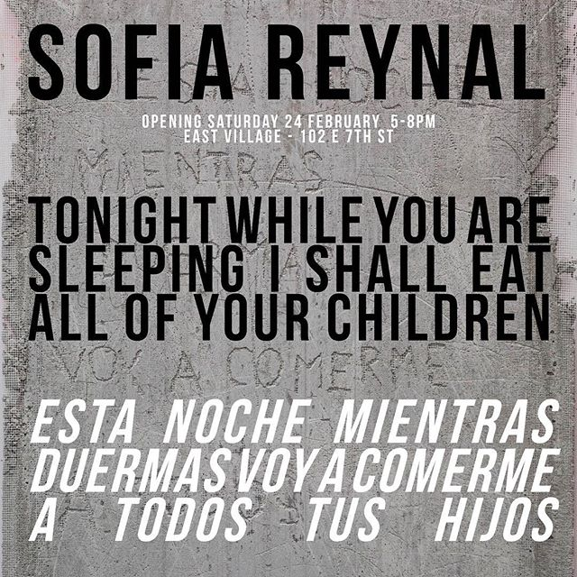 Sofía Reynal at CASA East Village - Opening: Saturday Feb 24 5-8pm. On view: Sunday Feb 25 12-6pm