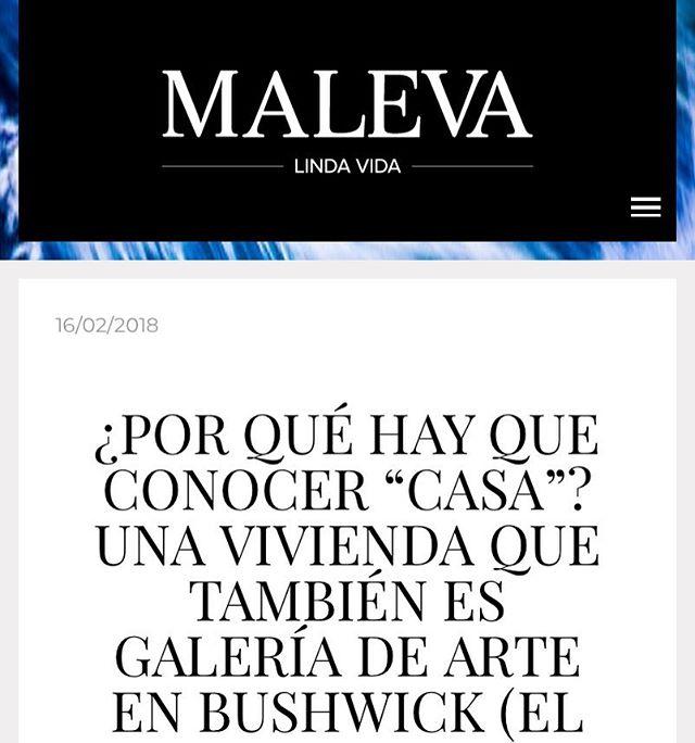 ¡Gracias @malevamag ! #casacasanyc en Maleva - Check it out at malevamag.com