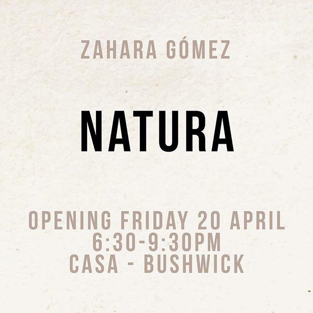 This Friday! More info? DM #NATURA #zaharagomez