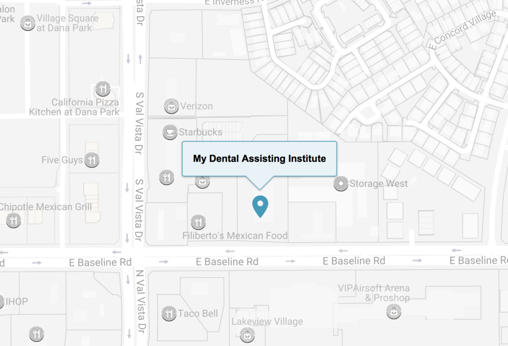 (480) 750-0017 - My Dental Assisting Institute1959 S. Val Vista Dr., Ste 118Mesa, AZ 85204