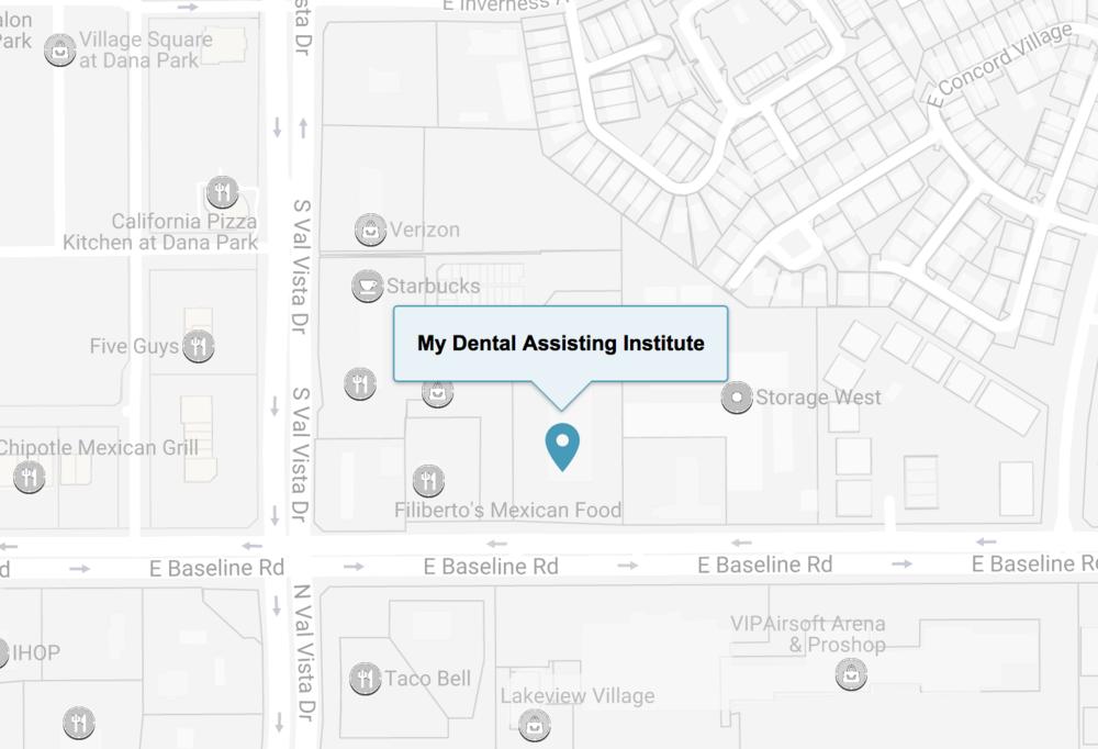 (480)750-0017 - My Dental Assisting Institute1959 S. Val Vista Dr., Ste 118Mesa, AZ 85204