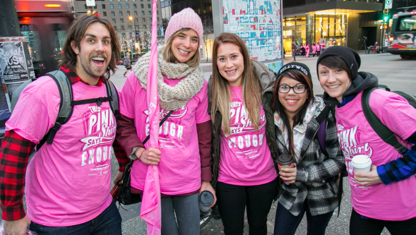 Annual Pink Shirt Day Rally Spreading Kindness on the Streets of ...