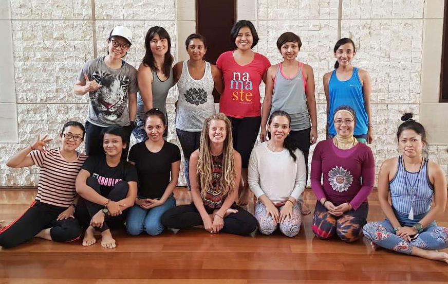Yoga for Teens teacher training graduates - Jakarta, Indonesia - August 2018