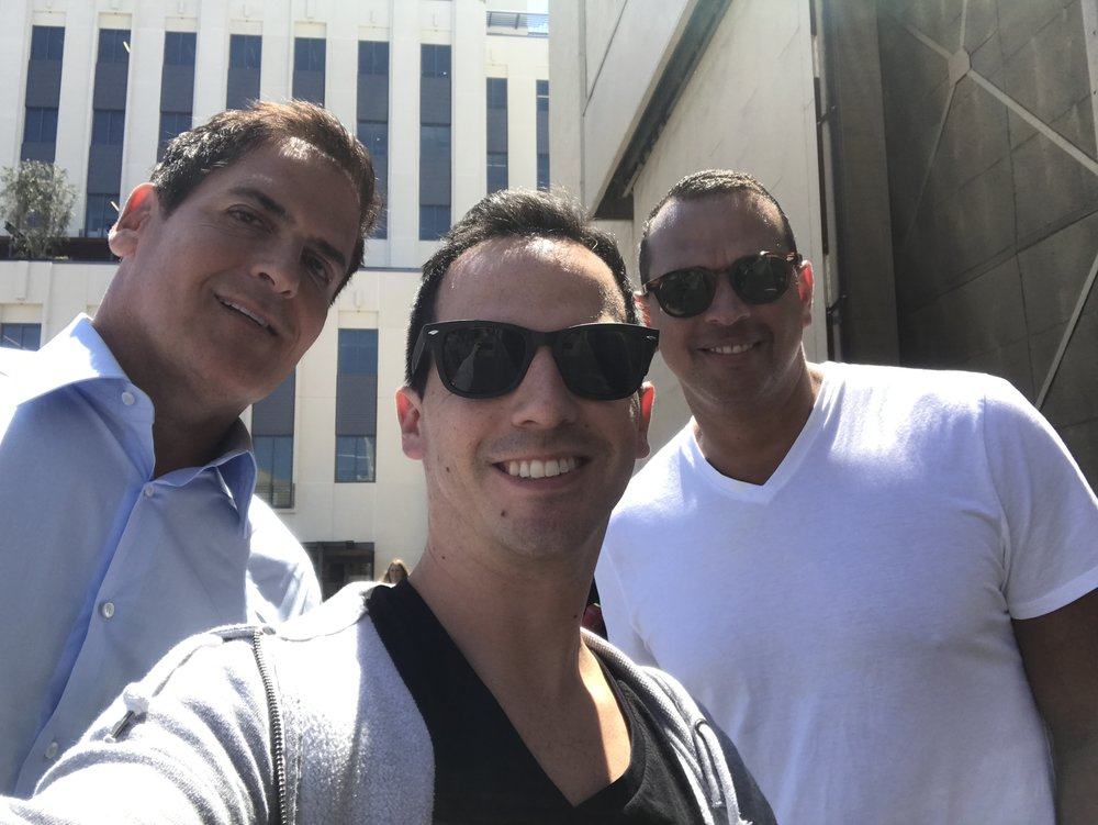 Mark Cuban & A-Rod On Set.JPG