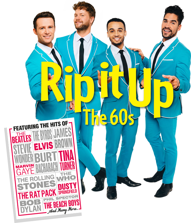 The cast of 'RIP IT UP' - 2 Singers, A Drummer and Gymnast. Eh?