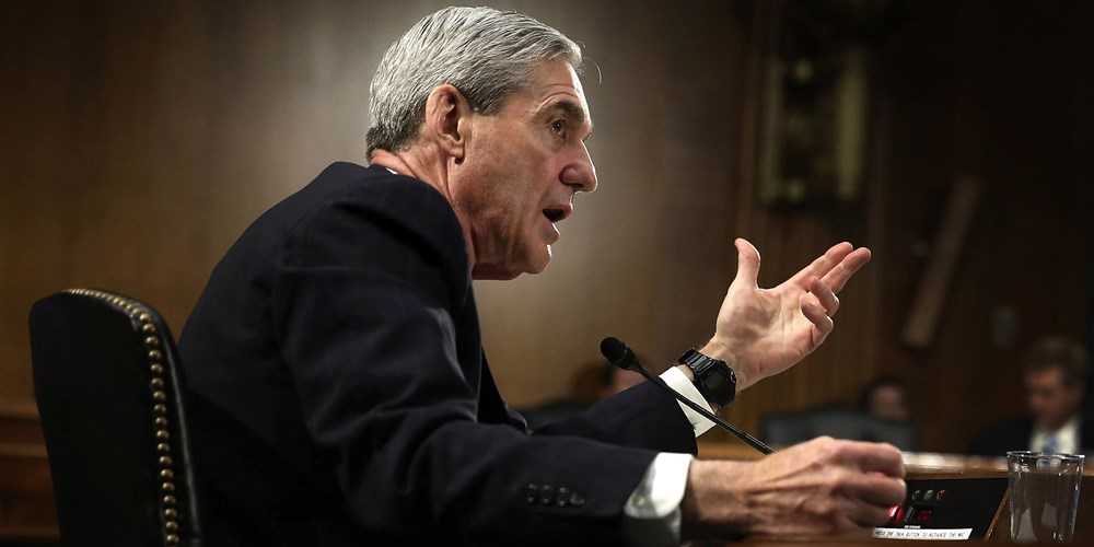 FBI Director Robert Mueller testifies during a hearing before the Senate Judiciary Committee. Alex Wong / Getty Images file