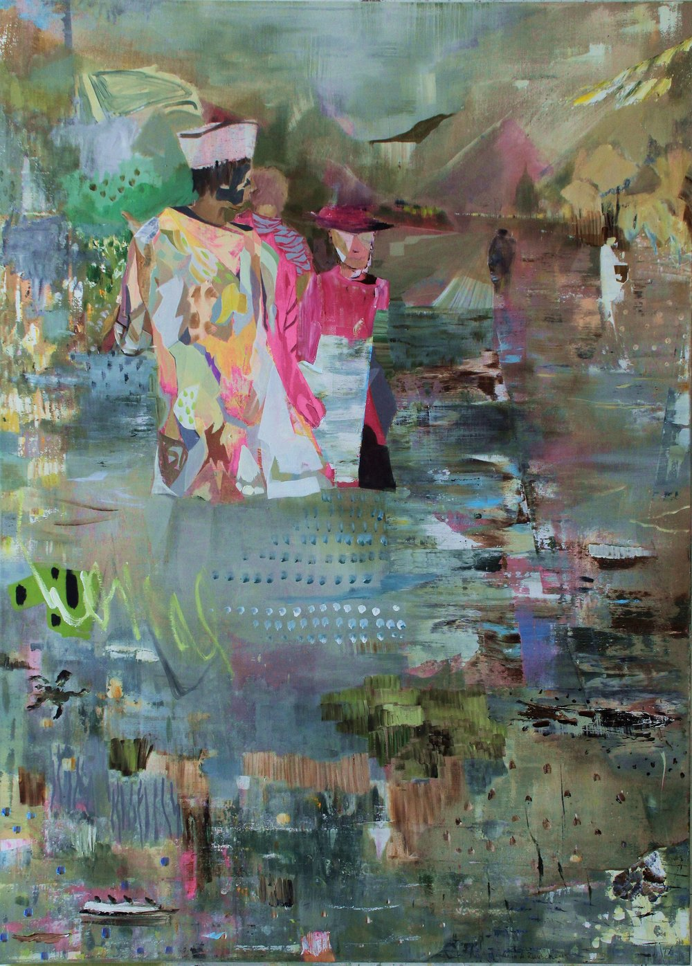 others are coming in, mixed media, 180x130cm