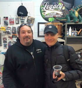 Bobby Myers and Gregg Bissonette pre-clinic