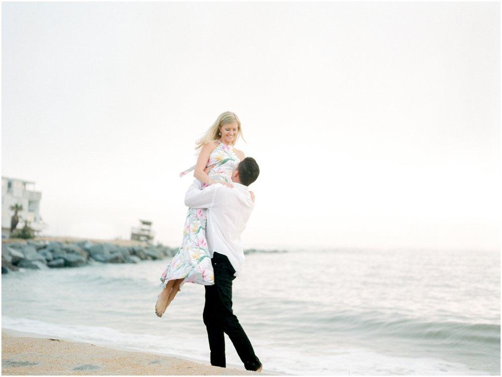 Sunrise Engagement Session at Vilano Beach- Jacksonville, Florida Fine Art Film Wedding Photography_0042.jpg
