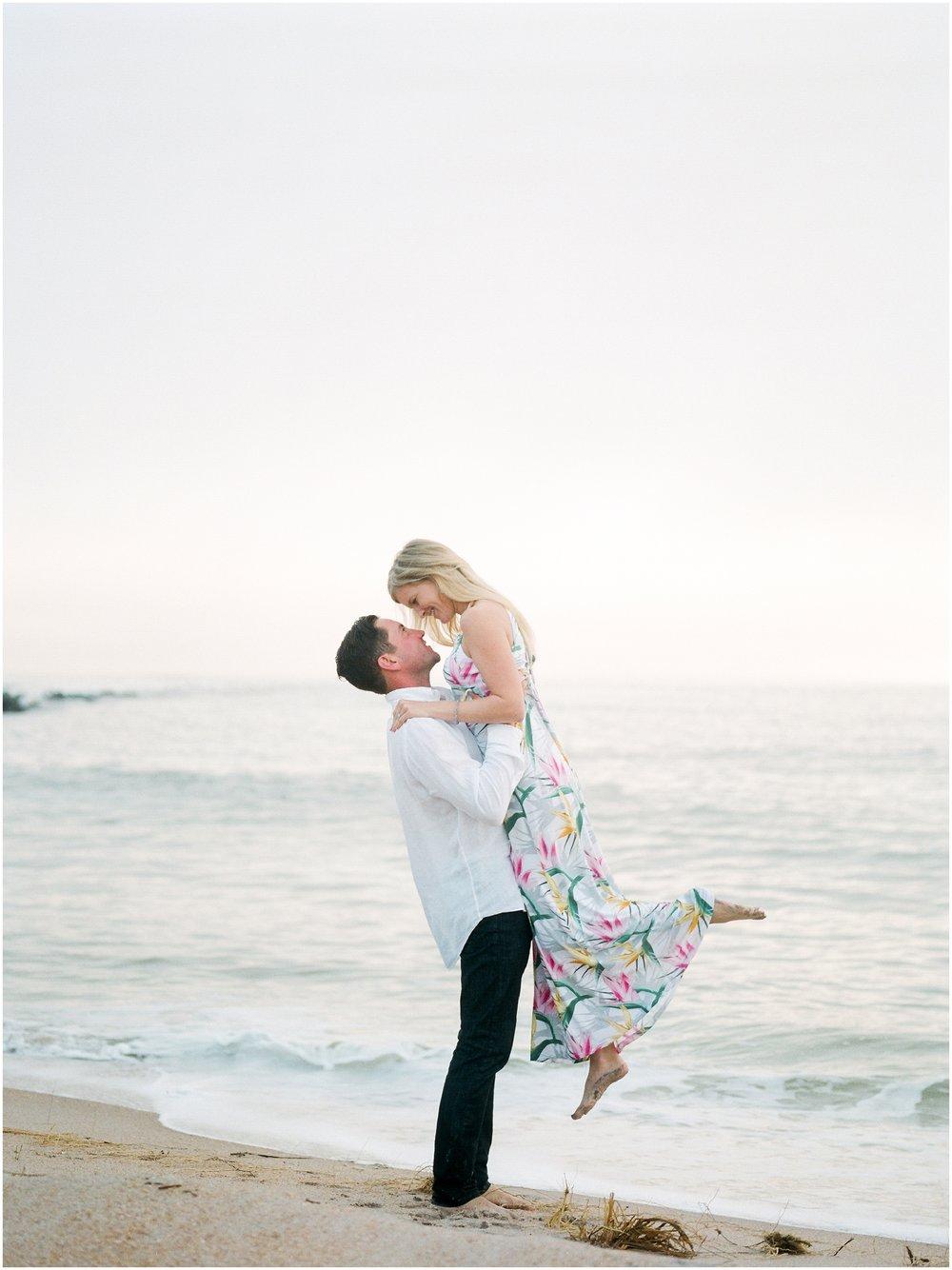 Sunrise Engagement Session at Vilano Beach- Jacksonville, Florida Fine Art Film Wedding Photography_0043.jpg