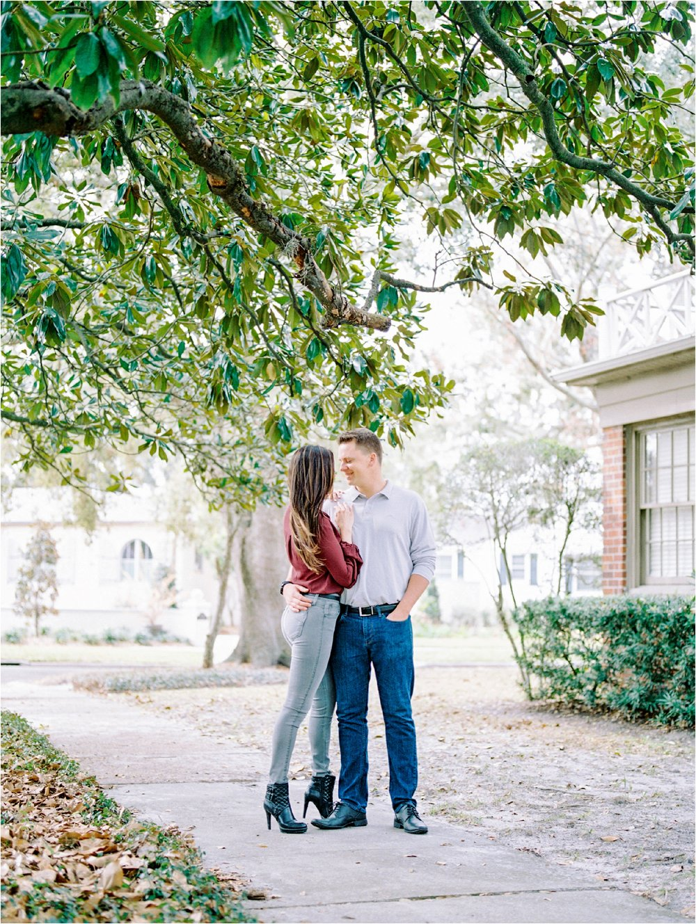 Lisa Silva Photography- Ponte Vedra Beach and Jacksonville, Florida Fine Art Film Wedding Photography- San Marco Jacksonville florida Engagement Session_0007.jpg