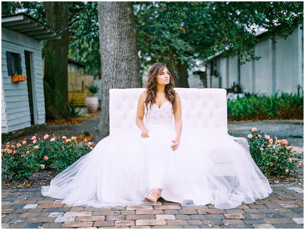 Lisa Silva Photography- Ponte Vedra Beach and Jacksonville, Florida Fine Art Film Wedding Photography- Spring Bridal Shoot at Ellie's Garden in San Marco, Jacksonville_0017a.jpg