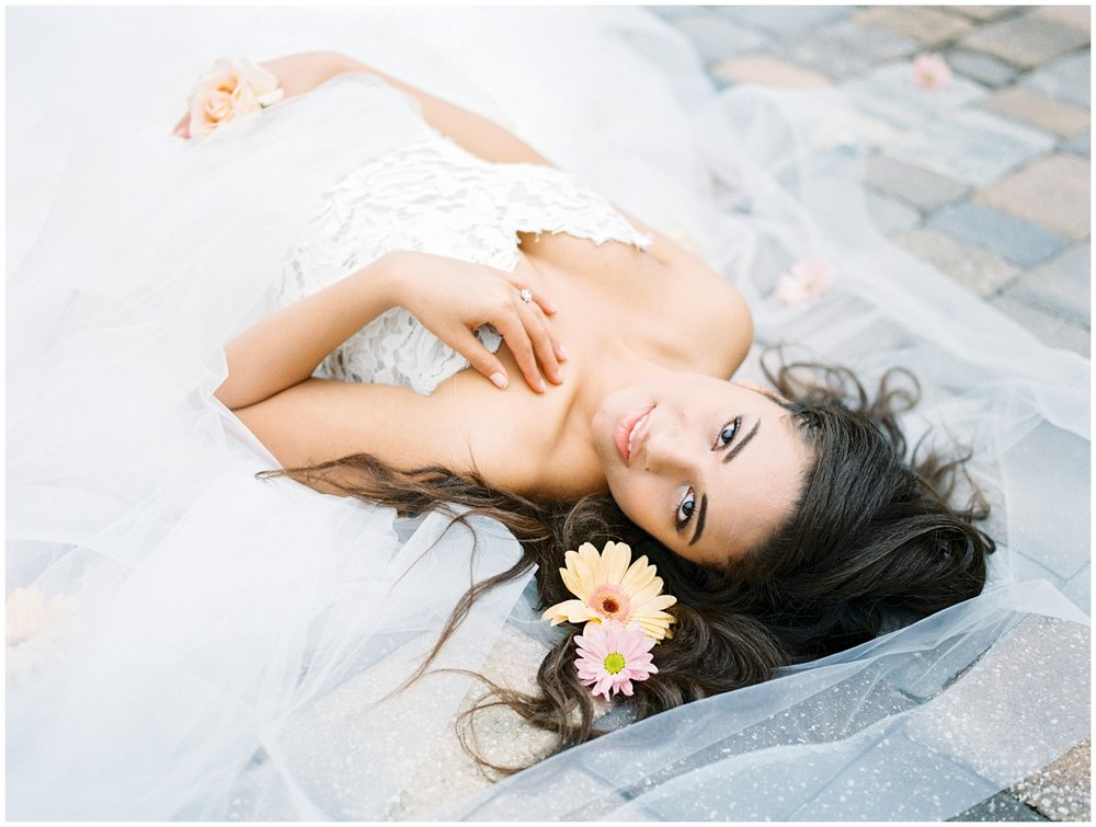 Lisa Silva Photography- Ponte Vedra Beach and Jacksonville, Florida Fine Art Film Wedding Photography- Spring Bridal Shoot at Ellie's Garden in San Marco, Jacksonville_0039.jpg