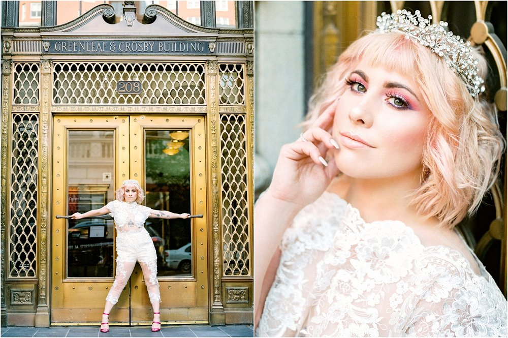 Lisa Silva Photography- Ponte Vedra Beach and Jacksonville, Florida Fine Art Film Wedding Photography- Bridal Jumpsuit Shoot in Downtown Jacksonville, FL_0011.jpg
