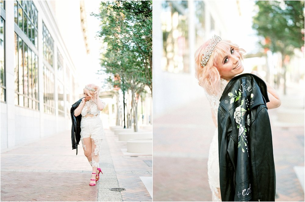 Lisa Silva Photography- Ponte Vedra Beach and Jacksonville, Florida Fine Art Film Wedding Photography- Bridal Jumpsuit Shoot in Downtown Jacksonville, FL_0028.jpg