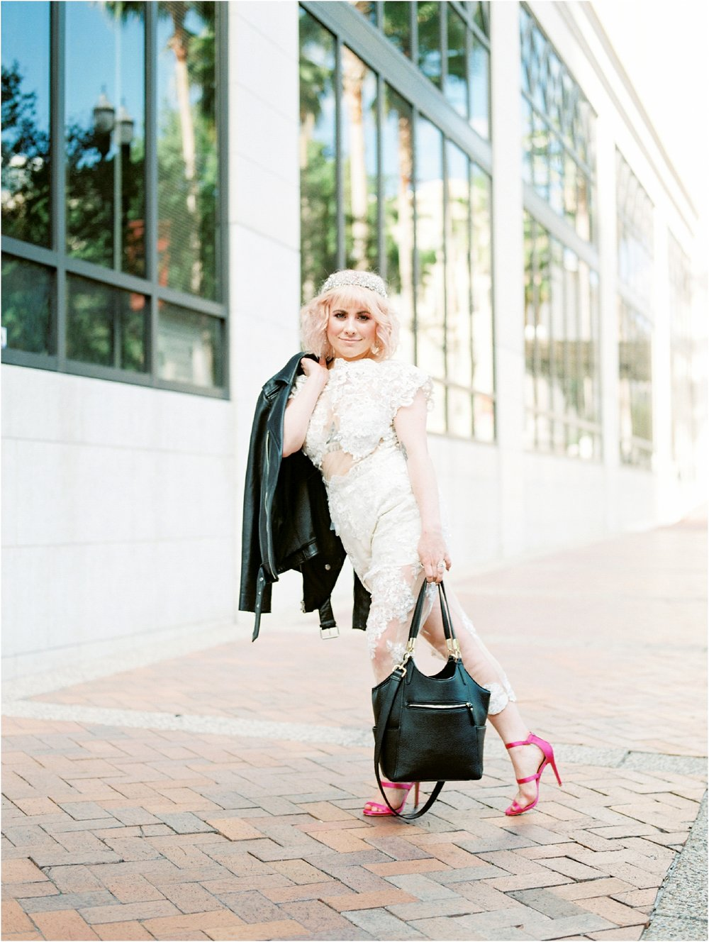 Lisa Silva Photography- Ponte Vedra Beach and Jacksonville, Florida Fine Art Film Wedding Photography- Bridal Jumpsuit Shoot in Downtown Jacksonville, FL_0029.jpg